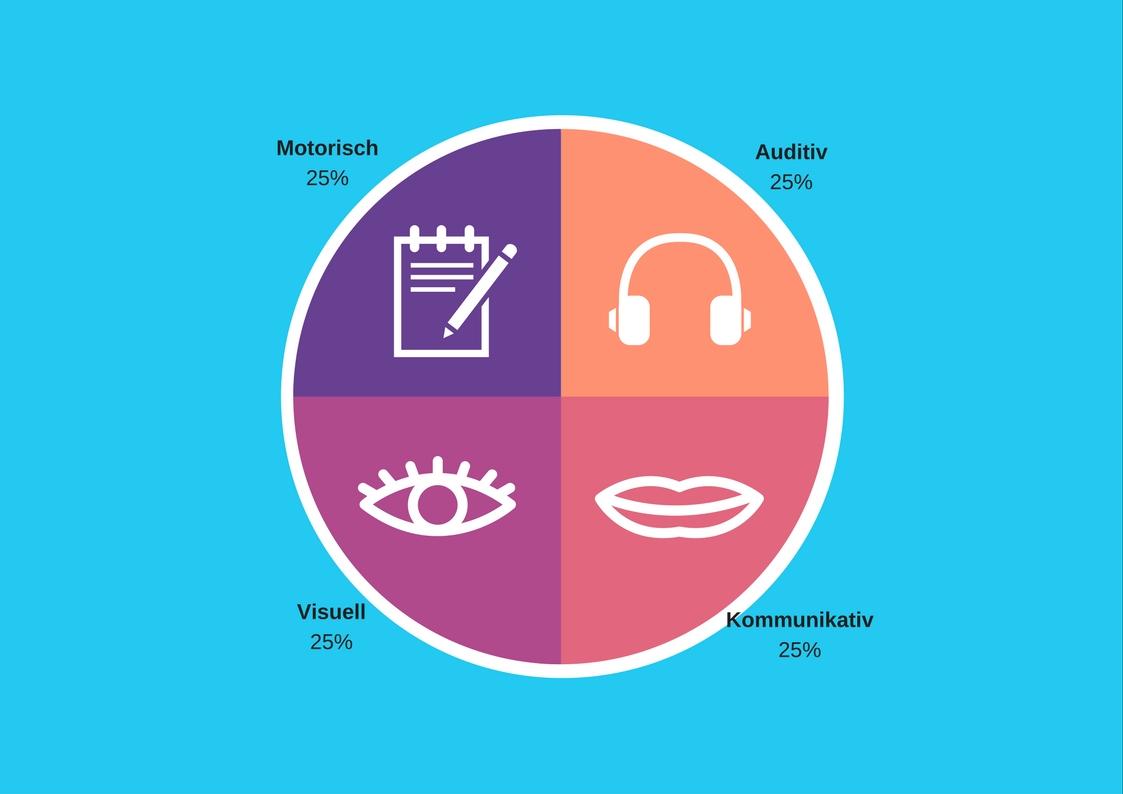 Die 4 Lerntypen und was sie bedeuten.